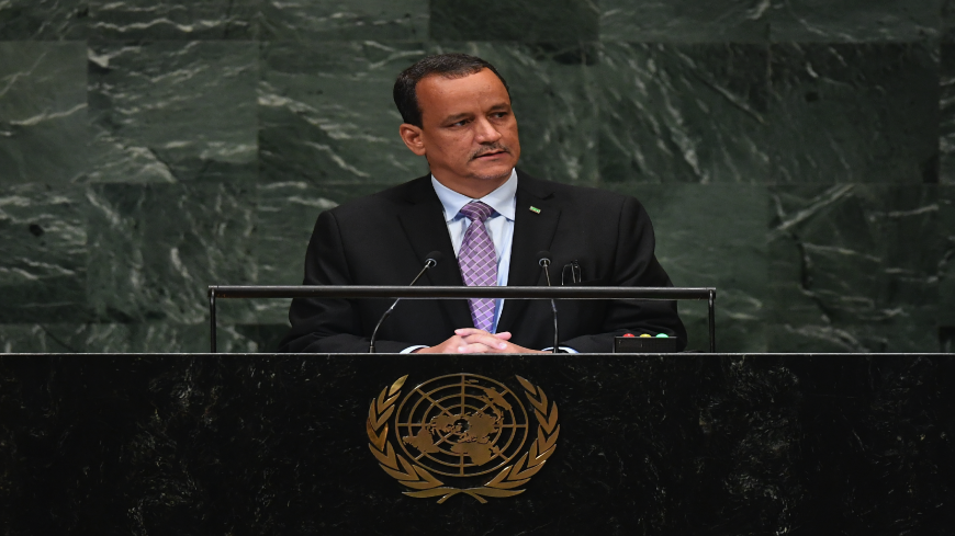 Mauritania's Minister for Foreign Affairs Ismail Ould Cheikh Ahmed speaks during the General Debate of the 73rd session of the General Assembly at the United Nations in New York on Sept. 27, 2018.