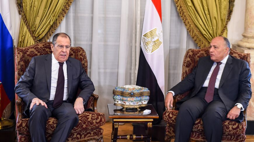Lavrov and Shoukry in 2019