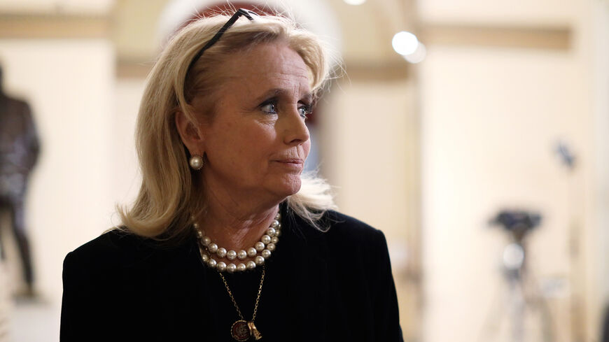 US Rep. Debbie Dingell (D-MI) is seen in a hallway of the US Capitol prior to an event at the Rayburn Room Dec. 19, 2019 in Washington, DC.