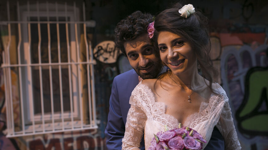 Ihsan Karayazi and Armine Avetisyan on their wedding day in Istanbul, Sept. 20, 2015. (Toga Sezgin)