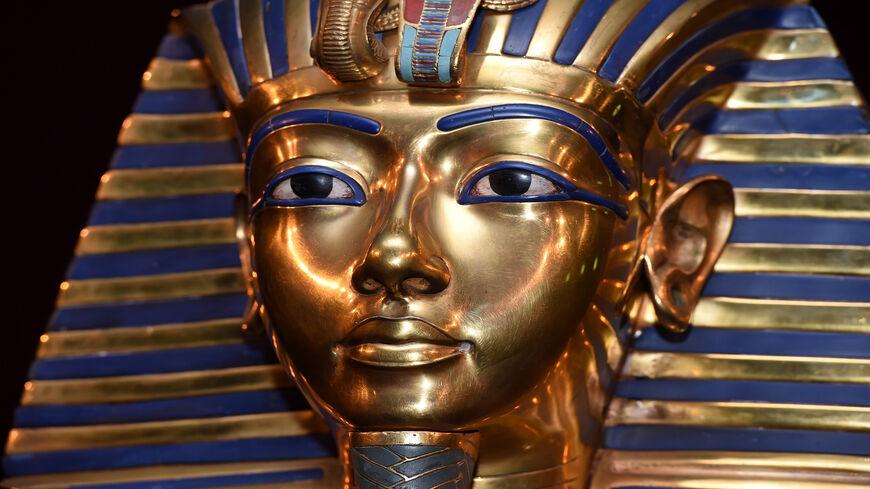 The burial mask of Egyptian Pharaoh Tutankhamun is shown            during the 'Tutanchamun - Sein Grab und die Schaetze'            Exhibition Preview at Kleine Olympiahalle, Munich, Germany,            April 2, 2015 .