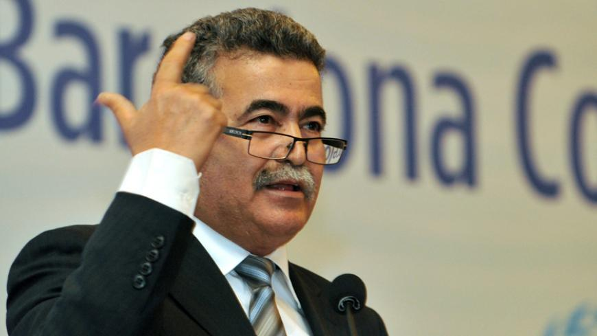 Israel's Environment Minister Amir Peretz speaks during the 18th ordinary meeting of contracting parties to the Barcelona convention and its protocols on December 5 2013 in istanbul. It is the first such trip of an Israeli cabinet minister in Turkey since the rupture of relations between the two former allies over a deadly raid on a Gaza-bound flotilla. Ties between Israel and Turkey hit an all-time low in May 2010 when Israeli commandos staged a pre-dawn raid on a flotilla of ships trying to taking aid to