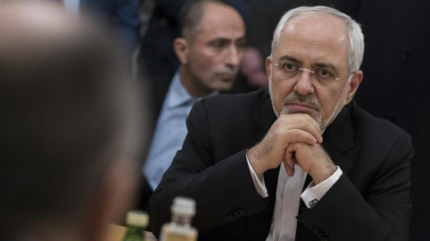 Iranian Foreign Minister Mohammad Javad Zarif attends a meeting with his Russian counterpart Sergei Lavrov in Moscow, Russia January 10, 2018. REUTERS/Alexander Zemlianichenko/Pool? - UP1EE1A1NCZOZ
