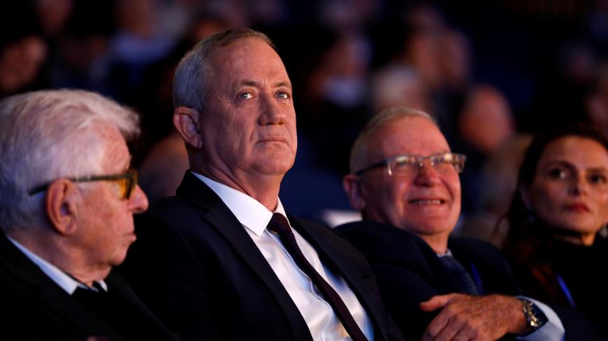 Leader of Israeli Blue and White party Benny Gantz is seen during the Institute for National Security Studies (INSS) conference in Tel Aviv, Israel January 29, 2020. REUTERS/Corinna Kern - RC2UPE96ATUR
