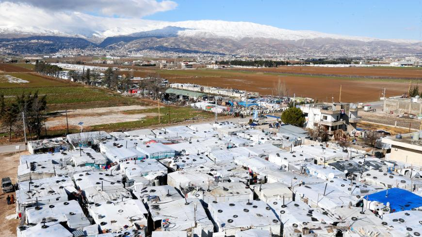 A general view of tents at a camp in Bar Elias, in the Bekaa Valley, Lebanon January 13, 2020. Picture taken January 13, 2020. REUTERS/Mohamed Azakir - RC2QFE9G8SHJ
