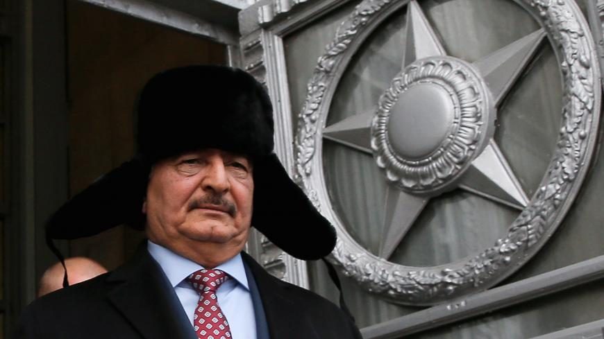 General Khalifa Haftar, commander in the Libyan National Army (LNA), leaves after a meeting with Russian Foreign Minister Sergei Lavrov in Moscow, Russia, November 29, 2016. REUTERS/Maxim Shemetov - RC1CB01F5300