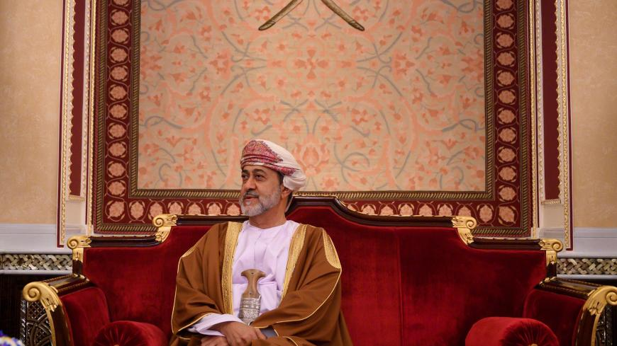 Oman's Sultan Haitham bin Tariq meets with US Secretary of State at al-Alam palace in the capital Muscat on February 21, 2020. (Photo by ANDREW CABALLERO-REYNOLDS / AFP) (Photo by ANDREW CABALLERO-REYNOLDS/AFP via Getty Images)