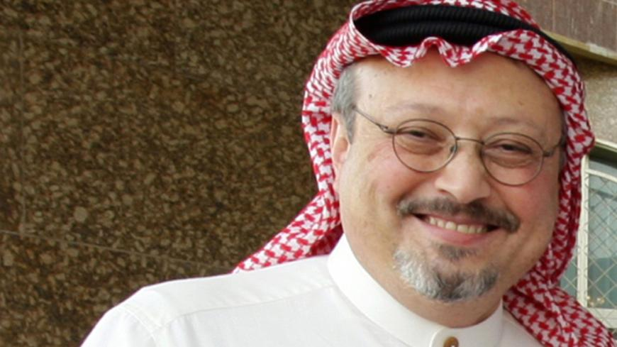 "An undated recent file picture shows prominent Saudi journalist Jamal Khashoggi who resigned suddenly on May 16, 2010 in Riyadh from the helm of Al-Watan days after the newspaper published a controversial column criticising Salafism. Al-Watan announced that Khashoggi, 52, was stepping down as editor-in-chief ""to focus on his personal projects,"" in a statement published on its website and in its Sunday edition. AFP PHOTO/STR (Photo credit should read -/AFP via Getty Images)"