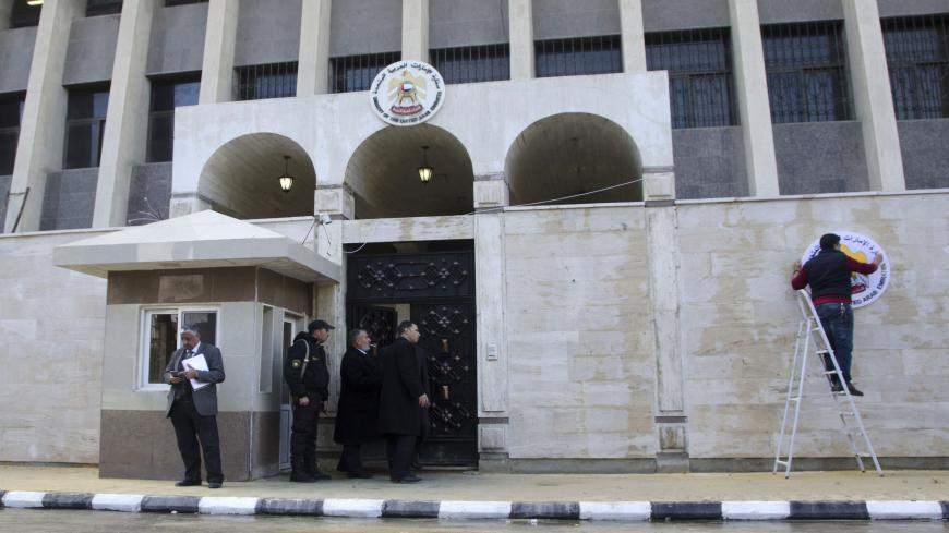 The United Arab Emirates embassy is pictured in the Syrian capital Damascus on December 27, 2018 after its reopening, the latest sign of efforts to bring the Syrian government back into the Arab fold. - The UAE broke ties with Syria in February 2012, as the repression of nationwide protests demanding regime change was escalating into a devastating war. (Photo by Maher AL MOUNES / AFP)        (Photo credit should read MAHER AL MOUNES/AFP via Getty Images)