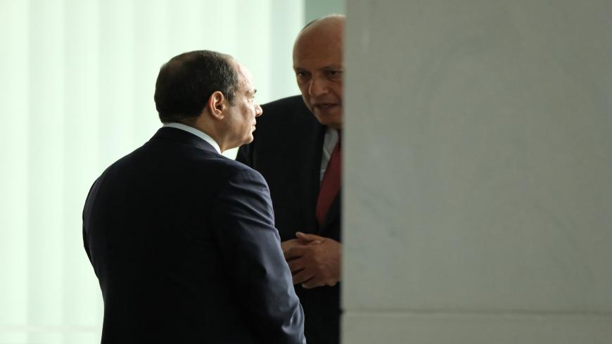 BERLIN, GERMANY - JANUARY 19: Egyptian President Abdel Fattah el-Sisi (L) attends an international summit on securing peace in Libya at the Chancellery on January 19, 2020 in Berlin, Germany. Leaders of nations and organizations linked to the current conflict are meeting to discuss measures towards reaching a consensus between the warring sides and ending hostilities.   (Photo by Sean Gallup/Getty Images)