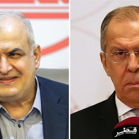 Mohammad Raad (L) and Sergey Lavrov (R)
