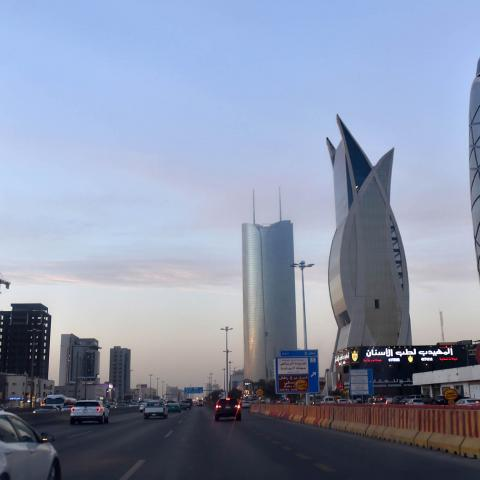 Newly constructed towers are seen in this photo, Riyadh, Saudi Arabia, Dec. 16, 2020.