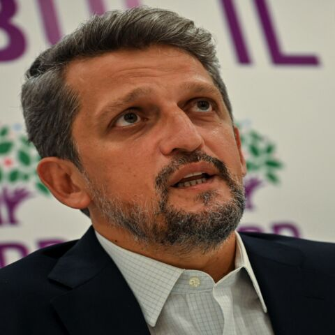 Armenian lawmaker from the pro-Kurdish HDP party Garo Paylan speaks during an interview on Oct. 12, 2020, in Istanbul. Despite keeping a low profile since the fighting started in Nagorno-Karabakh, members of the tiny Armenian community of Turkey feel under pressure and fear being targeted for any perceived support of Armenia amid Ankara's vociferous backing of Azerbaijan.