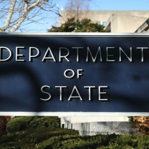 The US Department of State is seen on Jan. 6, 2020, in Washington, DC.