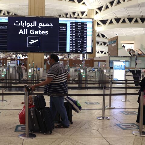 Saudi passengers arrive at King Khaled International airport in the capital, Riyadh, on May 17, 2021, as Saudi authorities lift travel restrictions for citizens immunized against COVID-19.