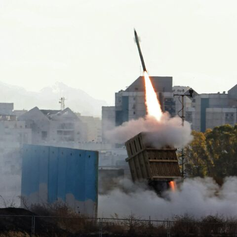Israel's Iron Dome aerial defense system is launched to intercept a rocket launched from the Gaza Strip, above the southern Israeli city of Ashdod, on May 17, 2021.