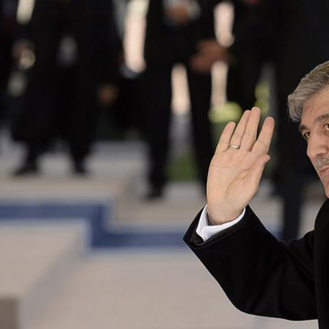 President Abdullah Gul of Turkey arrives at The World Forum in The Hague on March 24, 2014 on the first day of the two-day Nuclear Security Summit (NSS) . AFP PHOTO/POOL/MARCO DE SWART        (Photo credit should read MARCO DE SWART/AFP/Getty Images)