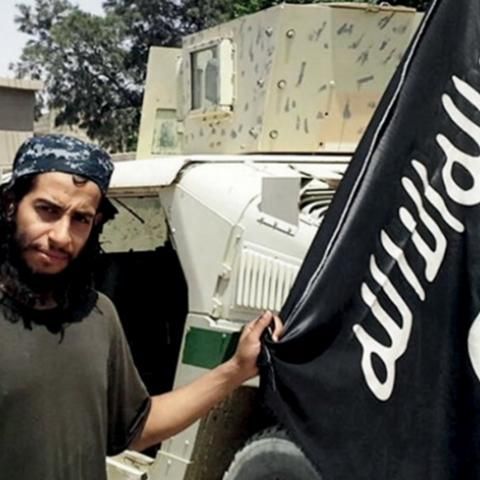 "An undated photograph of a man described as Abdelhamid Abaaoud that was published in the Islamic State's online magazine Dabiq and posted on a social media website. A Belgian national currently in Syria and believed to be one of Islamic State's most active operators is suspected of being behind Friday's attacks in Paris, acccording to a source close to the French investigation. ""He appears to be the brains behind several planned attacks in Europe,"" the source told Reuters of Abdelhamid Abaaoud, adding he wa"