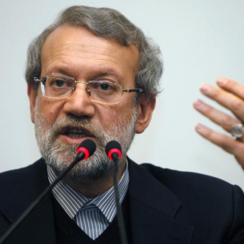 Iran's parliament speaker Ali Larijani holds a news conference in Istanbul January 22, 2015.  REUTERS/Osman Orsal (TURKEY - Tags: POLITICS HEADSHOT) - RTR4MHD3