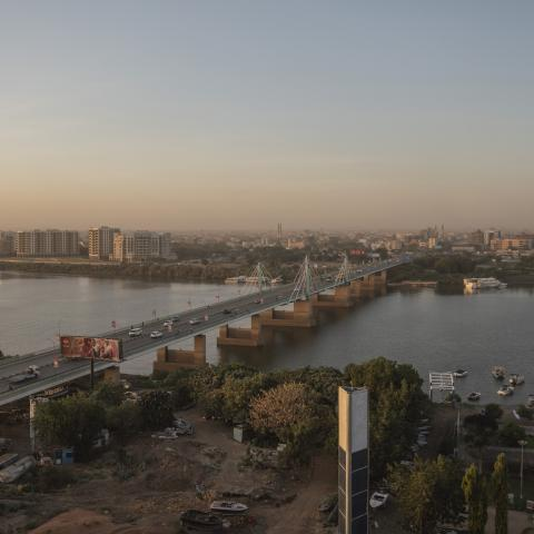 KHARTOUM- SUDAN - JANUARY 28: general view shows of the Nile River during the sunset of the city of Khartoum on 28 January 2021.     (Photo by Abdulmonam Eassa/Getty Images)